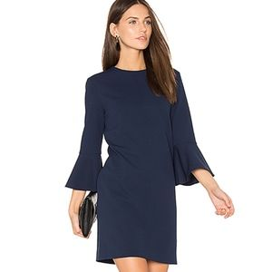 SALE Tibi Crepe Sheath Shift Bell Sleeve dress